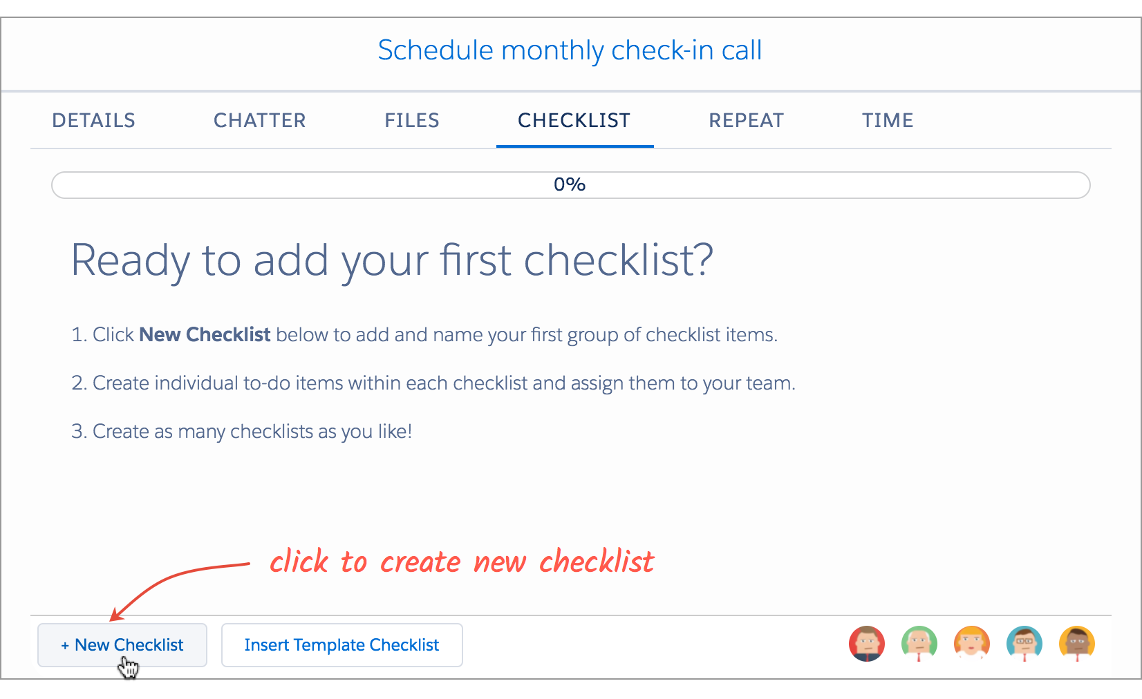 Create Checklists – TaskRay