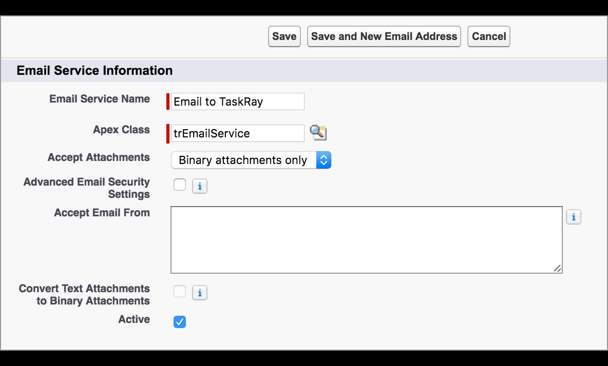 Email to TaskRay – TaskRay