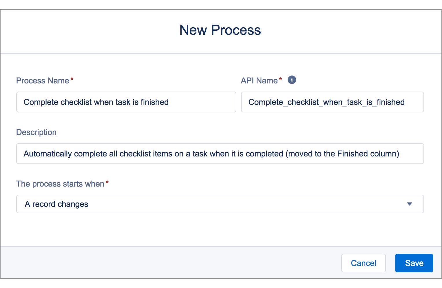 automatically complete checklist items when a task is finished taskray